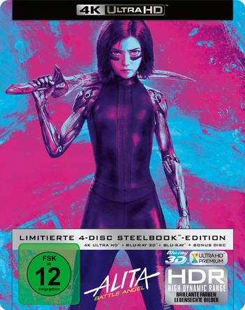 Alita: Battle Angel - Limited Steelbook Collector's Edition (4 Disc Set)