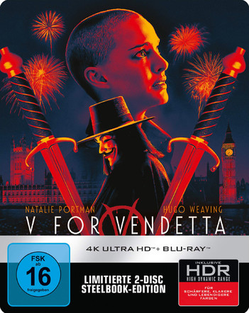 V For Vendetta - Limited Steelbook Edition (2 Disc Set)