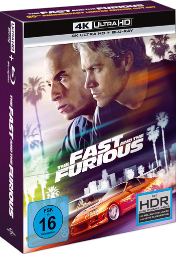The Fast and the Furious - 20th Anniversary Limited Edition Gift Set (2 Disc Set)